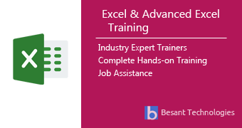 Excel and Advanced Excel Training in Chennai